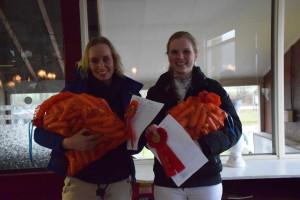 De winnaars van de rubriek B met wedstrijdervaring vlnr: Zwanet en Nina.